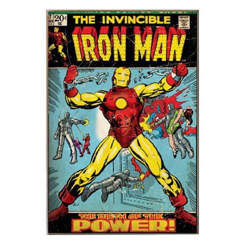The Invincible Iron Man Comic Book Cover Wood Wall Artwork