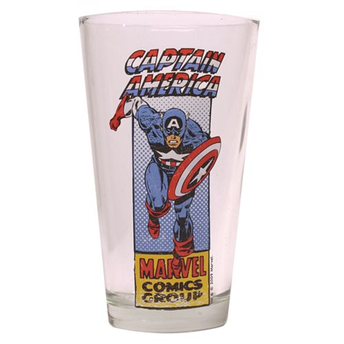 Captain America Action 16 oz. Pint Glass