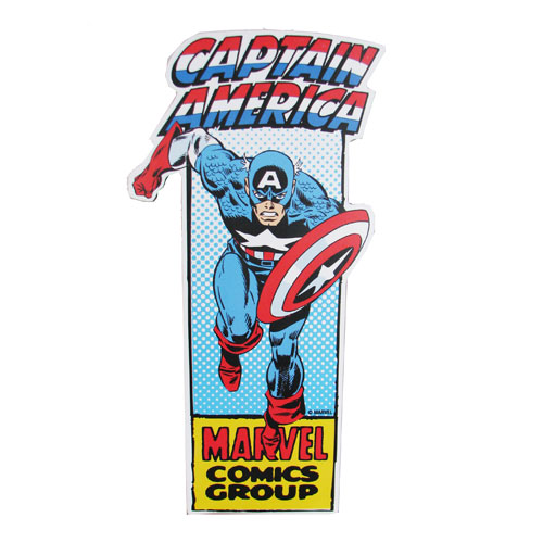 Captain America Die-Cut Wood Wall Art