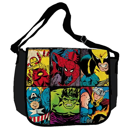 Marvel Characters Grid Messenger Bag