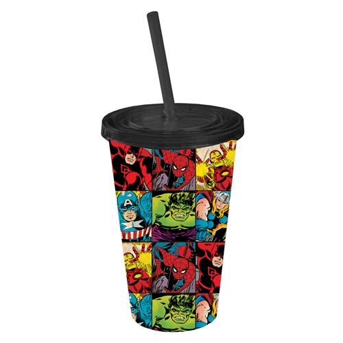 Marvel Heroes in Action Plastic Travel Cup