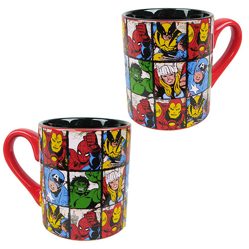 Marvel Comics Characters Grid 14 oz. Ceramic Mug