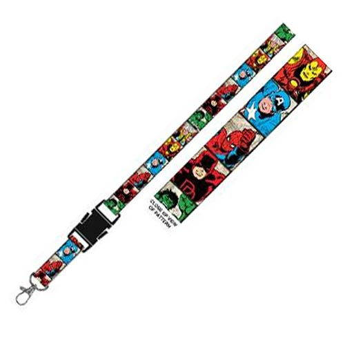 Marvel Characters Faces Lanyard Key Chain