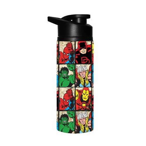 Marvel Heroes Grid Stainless Steel Water Bottle