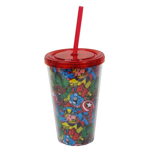 Marvel Group Shot 16 oz. Plastic Travel Cup