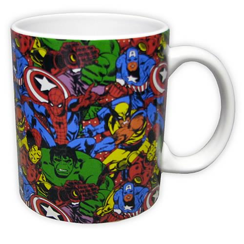 Marvel Heroes in Action Mug