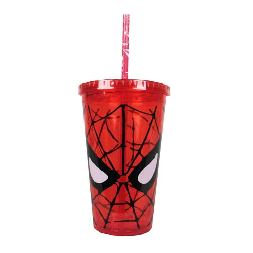 Spider-Man Face 16 oz. Plastic Travel Cup