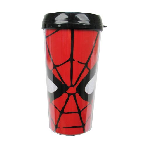 Spider-Man Eyes Glitter 16 oz. Plastic Travel Mug