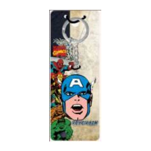 Captain America Face Metal Key Chain