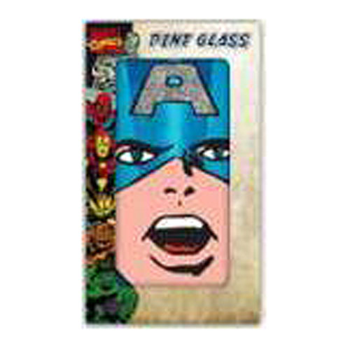 Captain America Glitter 16 oz. Pint Glass