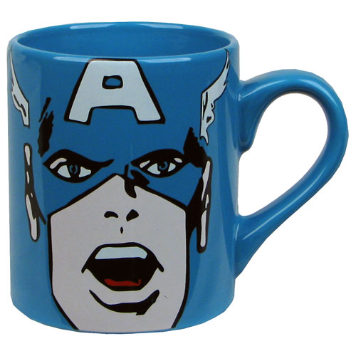 Captain America Face 14 oz. Mug