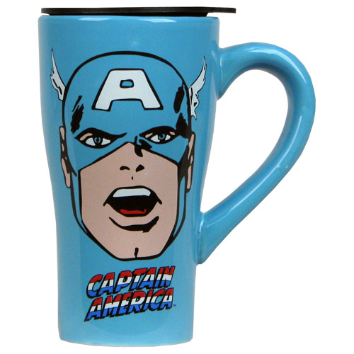 Captain America Face 18 oz. Ceramic Travel Mug