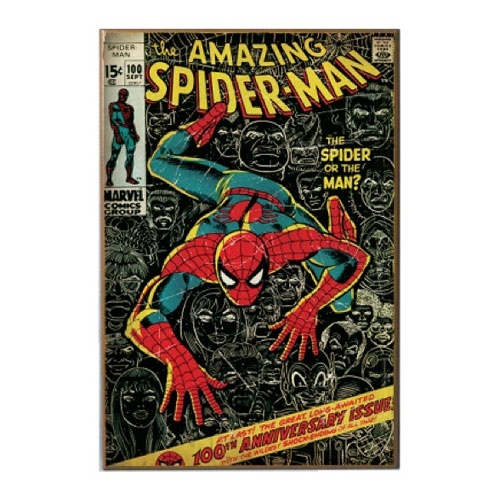 Spider-Man 100th Anniversary Wood Wall Sign
