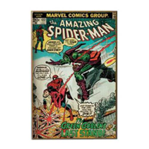 Spider-Man vs. Green Goblin Comic Book Cover Wood Wall Art