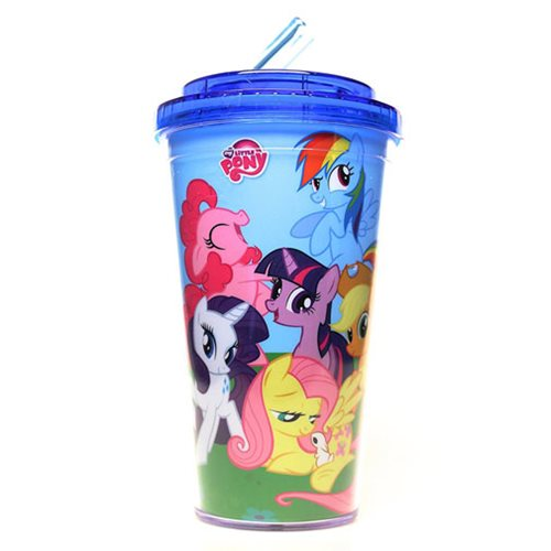 My Little Pony Friendship is Magic Flip Straw Cold Cup