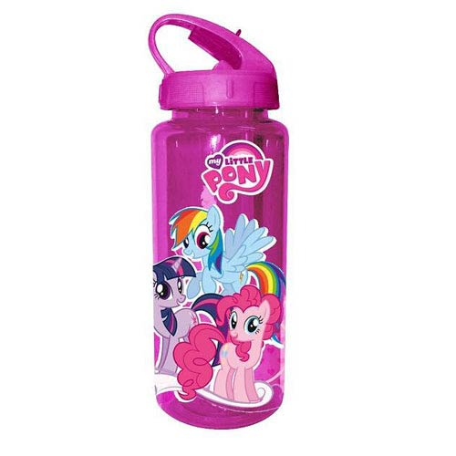 My Little Pony Purple Ponies Plastic Water Bottle