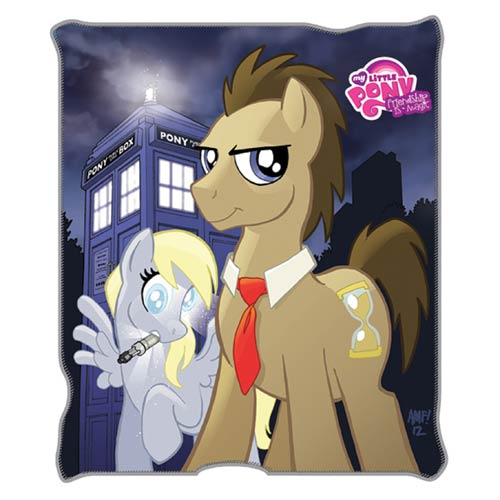 My Little Pony Friendship is Magic Dr. Whooves Throw Blanket