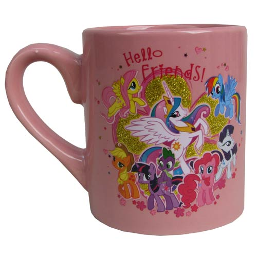 My Little Pony Friendship is Magic Hello Friends Mug