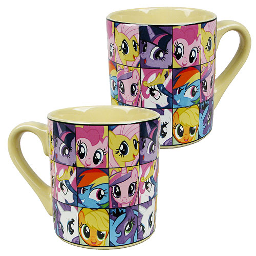 My Little Pony Friendship is Magic Grid 14 oz. Ceramic Mug