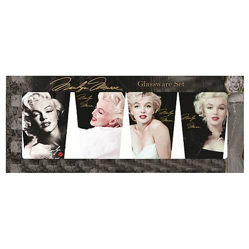 Marilyn Monroe Faces of Marilyn Glass Tumbler 4-Pack