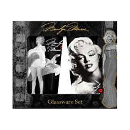 Marilyn Monroe Signature 16 oz. Pint Glass 2-Pack
