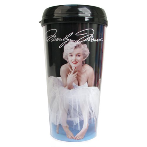 Marilyn Monroe Ballerina 16 oz. Plastic Travel Mug