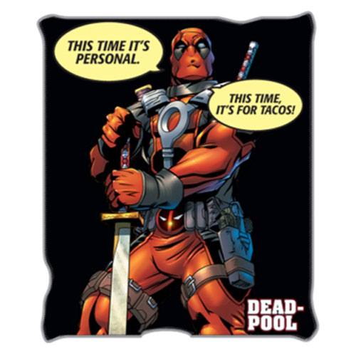 Deadpool Tacos Throw Blanket