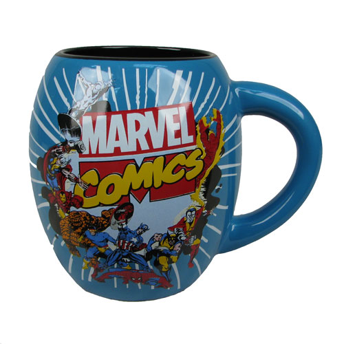 Marvel Comics Blue 18 oz. Ceramic Oval Mug
