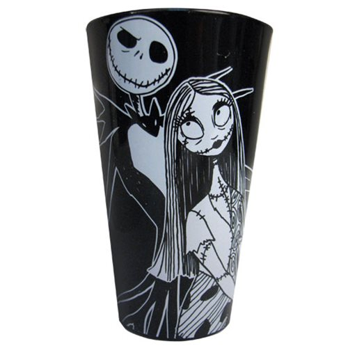 Nightmare Before Christmas Jack and Sally 16 oz. Pint Glass