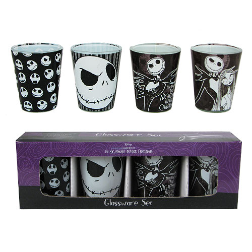 The Nightmare Before Christmas Mini Glass 4-Pack