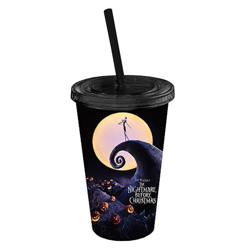 The Nightmare Before Christmas Poster Plastic Travel Cup
