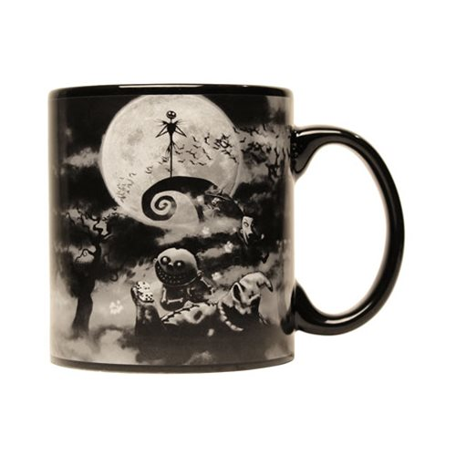 Nightmare Before Christmas Black 20 oz. Jumbo Ceramic Mug