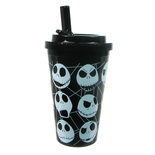 NBX Jack Skellington Multi-Face Flip-Straw Travel Cup