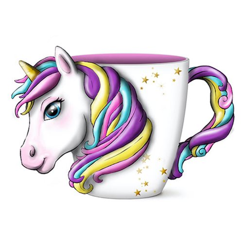 Unicorn Ceramic 3D Sculpted Mug