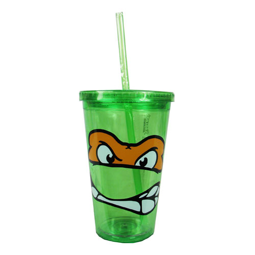 Teenage Mutant Ninja Turtles Michelangelo Plastic Travel Cup