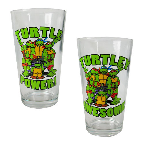 TMNT Power and Awesome 16 oz. Pint Glass 2-Pack