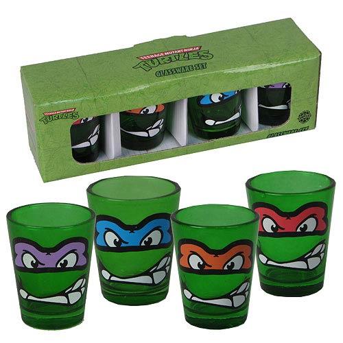 Teenage Mutant Ninja Turtles Mini Glass 4-Pack