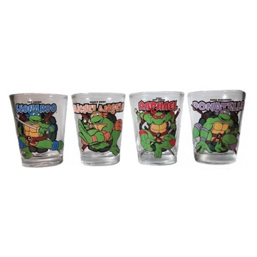 Teenage Mutant Ninja Turtles Action Shot Glass 4-Pack
