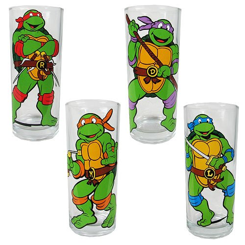 Tmnt Characters Pose 10 Oz. Glass Tumbler 4-pack