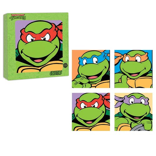 Teenage Mutant Ninja Turtles Glass Coaster 4-Pack