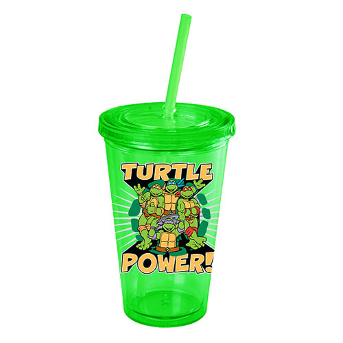 Teenage Mutant Ninja Turtles Turtle Power Plastic Travel Cup