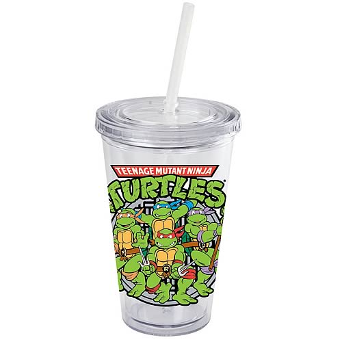 Teenage Mutant Ninja Turtles Logo 16 oz. Plastic Travel Cup