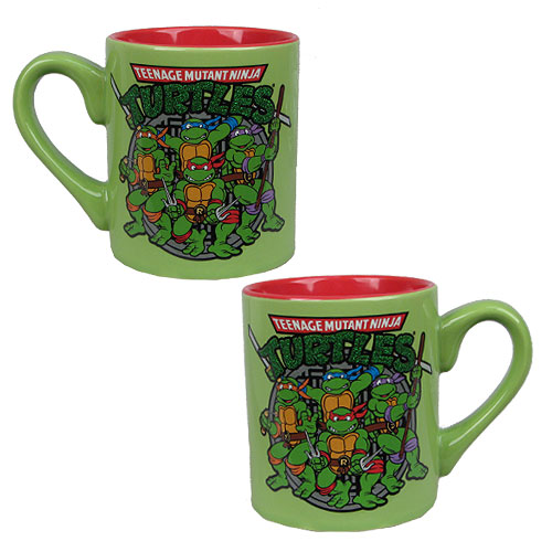 Teenage Mutant Ninja Turtles Group Glitter Ceramic Mug