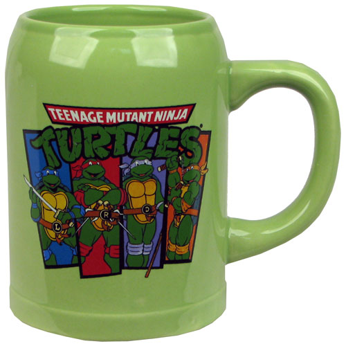 Teenage Mutant Ninja Turtles Green Ceramic Stein