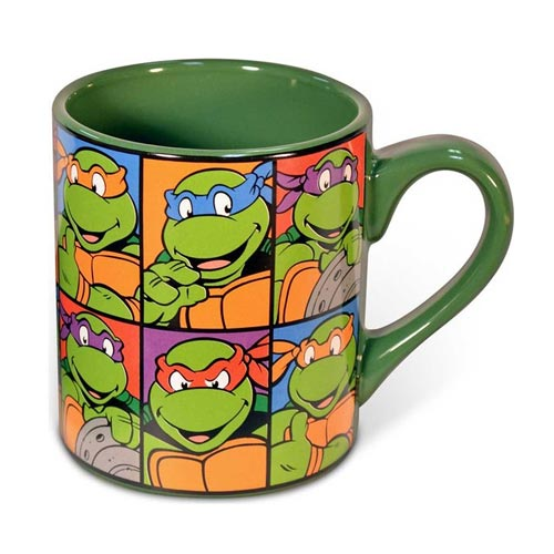 Teenage Mutant Ninja Turtles Faces Grid 14 oz. Ceramic Mug