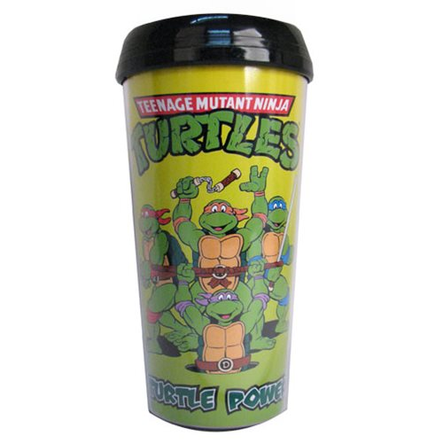 TMNT Turtle Power 16 oz. Plastic Travel Mug