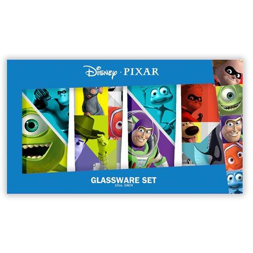 Pixar Characters 10 oz. Tumbler Glass 4-Pack