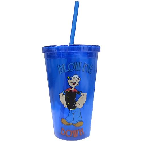 Popeye Blow Me Down Plastic Travel Cup