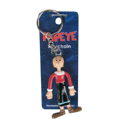 Popeye Olive Oyl Metal Key Chain