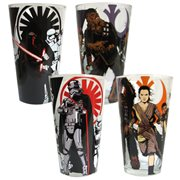 Star Wars Episode VII The Force Awakens Heroes Villains Pint Glass 4 Pack